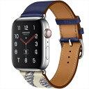 Apple Watch Hermes Series5 ステンレススチールケースとヴォー・スウィフト(アンクル/ベトン)シンプルトゥールレザーストラップ アップルウォッチ エルメス MWRA2J/A