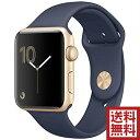 アップルウォッチ 本体 Apple Watch Series 2 42mm ゴールドアルミニウムケースとミッドナイトブルースポーツバンド シリーズ2 MQ1J2J/A