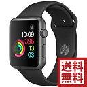 アップルウォッチ 本体 Apple Watch Series 2 38mm スペースグレイアルミニウムケースとブラックスポーツバンド シリーズ2 MP0E2J/A