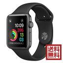 【全品ポイント2・3倍】Apple Watch Series 2 38mm スペースグレイアルミニウムケースとブラックスポーツバンド MP0E2J/A アップルウォッチ 本体
