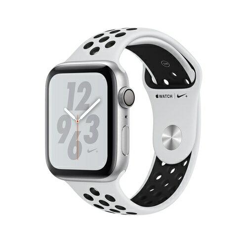Apple Watch Nike+ Series 4(GPS)44mm シルバーアルミニウムケースとピュアプラチナム/ブラックNikeスポーツバンド [アップルウォッチ シリーズ4]MU6K2J/A MU6K2JA