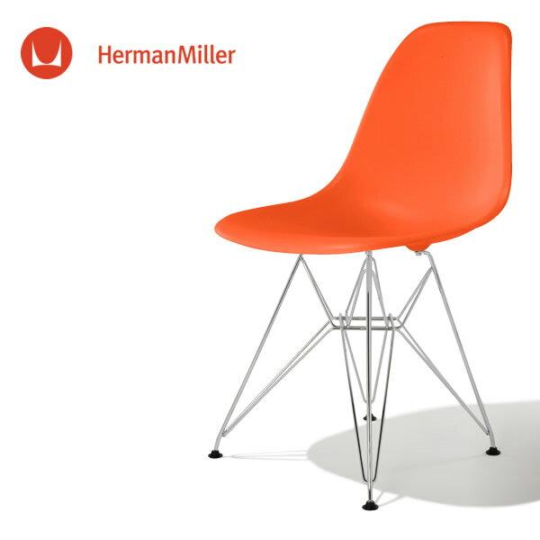 イームズ サイドシェルチェア DSR レッド クロームベース スタンダードグライズ[DSR. 47 ZE E8]【Herman Miller ハーマンミラー 正規品】