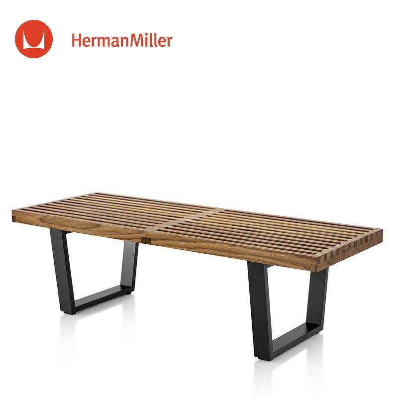 ネルソン プラットフォームベンチ ウォールナット ウッドベース 1220[PB.48W OU]【Herman Miller ハーマンミラー 正規品】