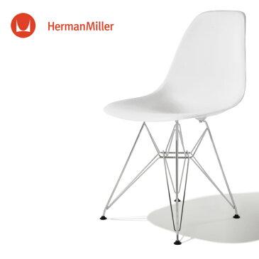 イームズ サイドシェルチェア DSR ホワイト クロームベース スタンダードグライズ[DSR. 47 ZF E8]【Herman Miller ハーマンミラー 正規品】