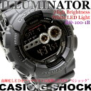 CASIO G-SHOCK ILLUMINATOR men watch willow oak ogee shock illuminator GD-100-1B free shipping