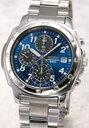 【SEIKO】 セイコー 1/20秒高速センタークロノグラフ腕時計セイコー 腕時計|SEIKO 定番クロノグラフ 1/20秒高速センタークロノ 50M防水メタリックブルー SND193P1