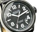 ブランド 腕時計 自動巻腕時計 オートマティック シーレーン機械式腕時計の鼓動を垣間見る事が出来るシースルーバック採用ブラックレザーベルト 送料無料
