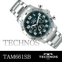 TECHNOS  deployment watch silver bezel TAM661SB is free shipping
