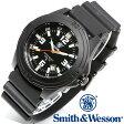 [送料無料] [正規品] スミス&ウェッソン Smith & Wesson ミリタリー腕時計 SOLDIER WATCH RUBBER STRAP BLACK SWW-12T-R [あす楽] [ラッピング無料]