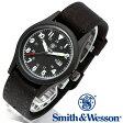 [正規品] スミス&ウェッソン Smith & Wesson ミリタリー腕時計 MILITARY WATCH BLACK SWW-1464-BK [あす楽] [ラッピング無料] [送料無料]