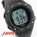 J-AXIS メンズ 腕時計 サンフレイム SRC02-BK