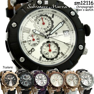 Salvatore Mara-cut men's Chronograph Watch