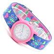 タイメックス キッズ TIMEX KIDS アナログ 腕時計 バタフライ×ハート 子供用 キッズ時計 キッズウォッチ エラスティックストラップ T89001