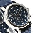TIMEX タイメックス 腕時計 メンズ ウィークエンダー クロノグラフ 40mm ダイアル ストラップ TW2P71300 ブルー ネイビー