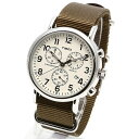 TIMEX タイメックス 腕時計 TW2P71400 WEEKENDER / ウィークエンダー クロノグラフ ミリタリーウォッチ メンズ レディース 時計 アナログ ミリタリー カジュアル クリーム オリーブ