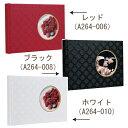 【受発注品】ナカバヤシ ブック式フリー窓抜き表紙ギフトアルバムフラワーA5 アH-A5B-201(レッド / ブラック / ホワイト):