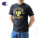 送料無料【チャンピオン】カレッジTシャツ【ブラック】【c3-z345】エナメルプリント