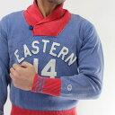 50%OFFセールChampion チャンピオンのサマーセーター(綿100%ブルー)C3-BA01/チャンピオン