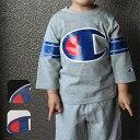 チャンピオン(Champion)キッズ用 7分袖TシャツCS3548(サイズ110/120/130)ビッグロゴ