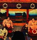 ショッピング大相撲 和極(ワゴミ)成型ボクサーパンツ前とじ(和柄)勧進大相撲土俵入之図 90L柄