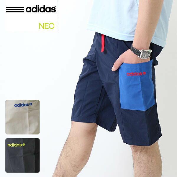 2015春夏新作)adidas(アディダス)NEOタッサーハーフパンツ メンズショートパンツ(KAX67)人気 ブランド
