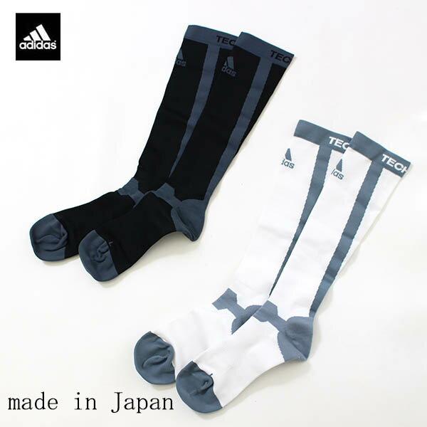 日本製 アディダス(adidas)メンズ着圧ハイソックス(着圧靴下男性用テックフィット 40%OFF TECHFIT)ITW42