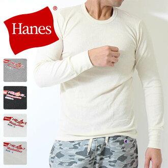 64%) 是哈尼斯哈尼斯羅紋長袖圓領 T 襯衫 biz 熱它秋/冬哈尼斯 (54-803) 圓領長袖襯衫長袖羅紋針織熱絕緣