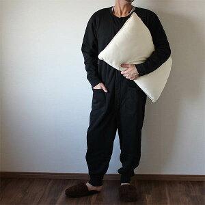 パジャマ ブラック オールインワン