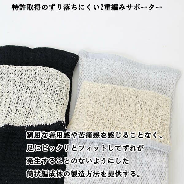 日本製 ひざサポーター ロング(特許商品)シル...の紹介画像3