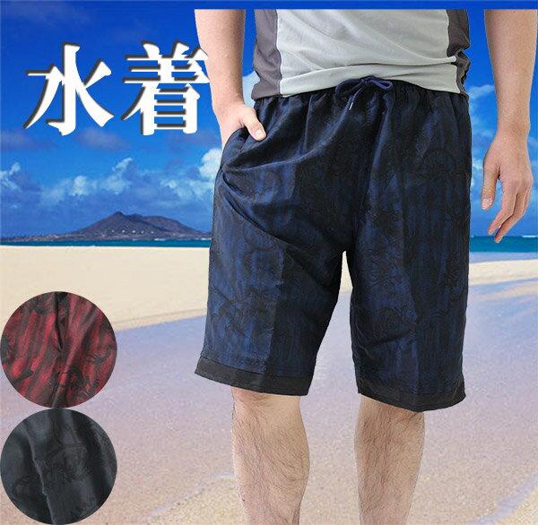 メンズ男性用の水着サーフパンツ海パン(和風柄)