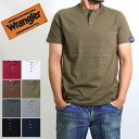 (Wrangler)ラングラー ヘンリーネック 半袖 tシャツ メンズ 1000円 ポッキリ 綿 100% コットン
