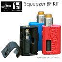 電子タバコ スターターキット Hugo Vapor Squeezer BF KIT ロック機能付き N RDA メカニカルBOX MOD 18650/20700バッテリー換装可能