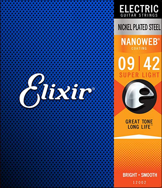 Elixir/エリクサーエレキギター弦 12002NANOWEBSuperLight009-042Y