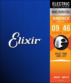 Elixir/エリクサーエレキギター弦 12027NANOWEBCustomLight009-046