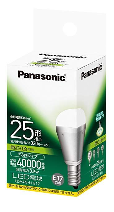 パナソニック LED電球 電球25W形相当 密閉形器具対応 E17口金 昼白色相当(3.9W) LDA4NHE17[メール便発送、送料無料、代引不可]【YDKG-kd】【smtb-KD】[新生活][照明]