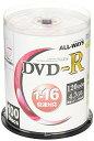 ALL-WAYS DVD-R 4.7GB 1-16倍速対応 CPRM対応100枚 デジタル放送録画対応 スピンドルケース入り/ワイド印刷可能 ACPR16X100PW 送料無料(一部地域を除く) メディア 消耗品 【YDKG-kd】