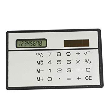 超薄型カード式 ソーラー電卓 税計算【YDKG-kd】【smtb-KD】[定形外郵便、送料無料、代引不可]