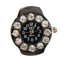 ゆびクロ 《ブラック》 指輪時計 リングウォッチ フィンガーウォッチ 指時計 腕時計 おしゃれ レディース[時計][ギフト]【smtb-KD】[定..