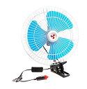車載扇風機 《6インチ》 簡単使用 角度調節 車中泊 冷房 ...
