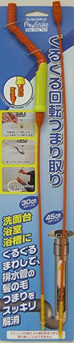日本クリンテック ぐるぐる回転・排水管つまり取り フレキシスネイク スティック2本付【YDKG-kd】【smtb-KD】[新生活][掃除][便利][定形外郵便、送料無料、代引不可]