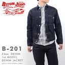 BLTOM JEANS ブルトムジーンズ B-201[ay][ro]24oz. DENIM 1st MODEL DENIM JACKET 24オンス デニム ファースト Gジャン 朧藍 アメカジ …