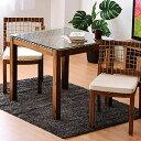 ダイニングテーブルセット 2人掛け 正方形 テーブル 幅80cm 80x80 カフェ風ダイニング アカシア材 ガラステーブル ダイニング ダイニング3点セット シンプル モダン コンパクト 省スペース 一人暮らし