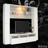 数量限定 テレビ台 TV台 TVボード テレビボード ハイタイプ 幅190cm 高さ180cm 収納機能付き 鏡面 ホワイト 壁面収納 ダウンライト付き 送料無料 楽天 通販