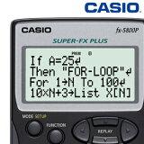 CASIO プログラム関数電卓 数学自然表示 10桁 FX5800PN