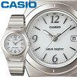 カシオ ウェーブセプター 10DJ レディース ホワイト (アラビア数字) ステンレスバンド タフソーラー 電波時計 CASIO Wave Ceptor