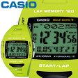 カシオ フィズ スポーツウオッチ 1000 グリーン 樹脂バンド 電波受信機能(マルチバンド6) タフソーラー 最大120本のラップメモリー CASIO PHYS FOR RUNNERS