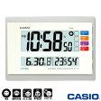 カシオ ウェーブセプター 日本気象協会共同企画 壁掛け電波時計 140J (ホワイト) 生活環境お知らせ機能(湿度計/温度計)付き ◆2013年−2014年モデル