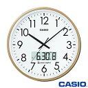 カシオ ウェーブセプター 壁掛け電波時計 2100J (シャンパンゴールド) デュアルタイム表示機能搭載 ◆2014年モデル