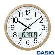 カシオ ウェーブセプター 壁掛け電波時計 4100J (シャンパンゴールド) デュアルタイム表示機能搭載 ◆2014年モデル