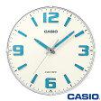 カシオ ウェーブセプター 壁掛け電波時計 1009J (ホワイト) アナログ 秒針停止機能 カーブガラス仕様 ◆2014年-2015年モデル